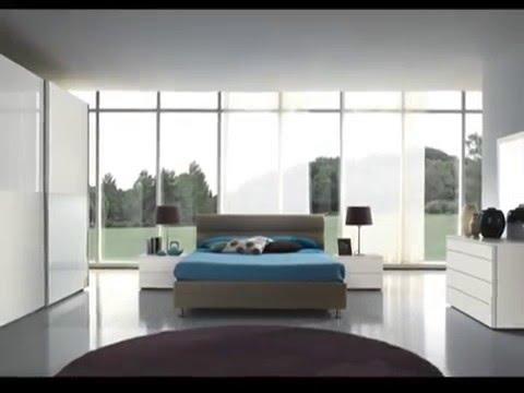 Camere da letto matrimoniali Moderne.Colori Bianco, Tortora, Tabacco ...