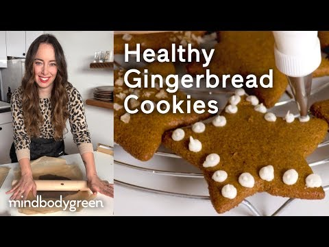 Healthy Gingerbread Cookies | A Little Bit Healthier | mindbodygreen