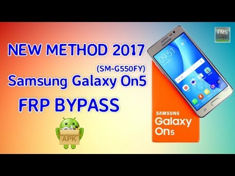 Samsung Galaxy On5 (SM-G550FY) FRP Lock Remove Google Account Bypass New Method 2017 Free