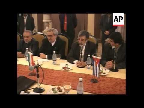 Iranian president of Islamic Assembly visits biotechnology lab