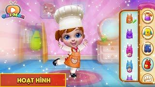 Cách làm bánh kem hình búp bê công chúa - Vua đầu bếp nhí trổ tài | Chimon TV
