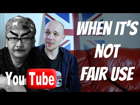 When it's NOT Fair Use On Youtube | Copyright & Plaigarism - My Thoughts