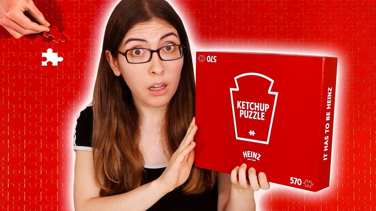 Attempting the Heinz Ketchup Puzzle (it's solid red!)