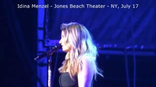 VIDEO 4 Idina Menzel #IdinaWorldTour Jones Beach Theater, July 17, 2015
