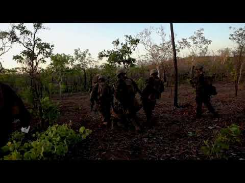 Marines and Sailors train casualty evacuation drills NT, AUSTRALIA 09.08.2020