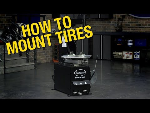 How To Dismount & Mount Tires With A Tire Machine - Eastwood Swing Arm Tire Changer