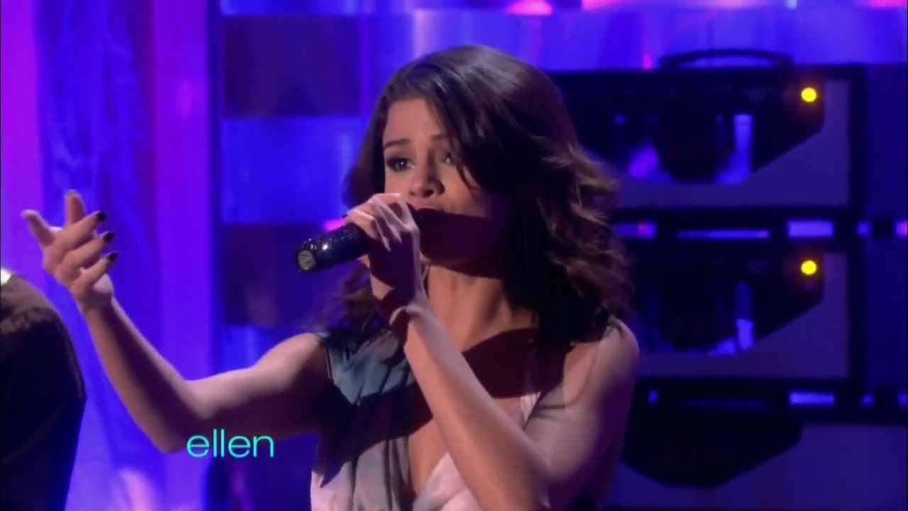 Selena gomez who says live on ellen