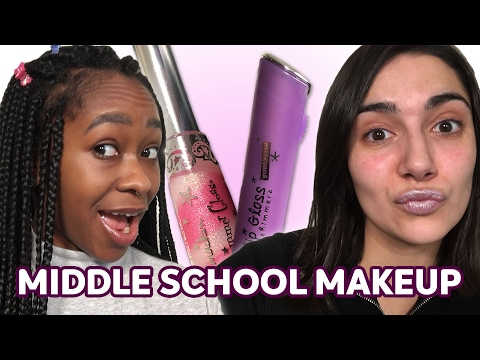 Thumbnail: How We Did Our Makeup In Middle School • Saf & Freddie