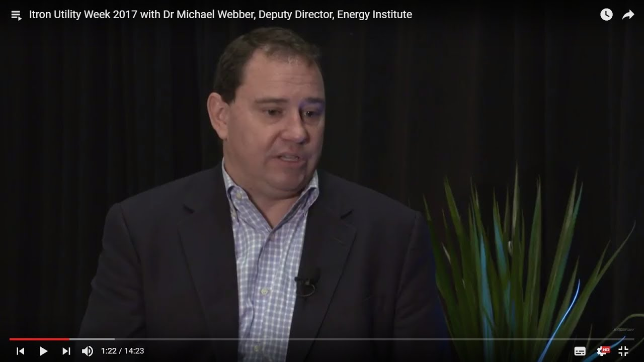 Engaging the next generation with Dr Michael Webber (Itron Utility Week 2017)