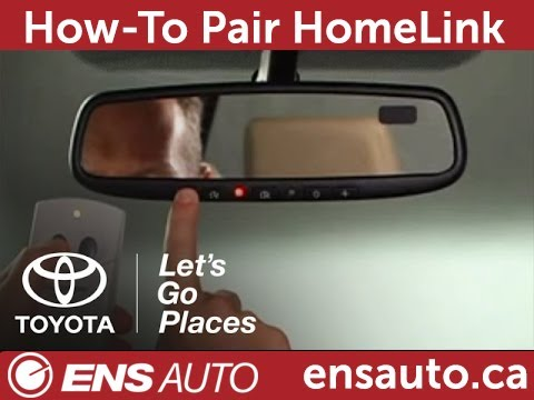 How To Program Toyota Homelink Garage Door Opener