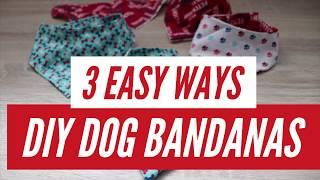 DIY Reversible Dog Bandana | 3 Easy Ways