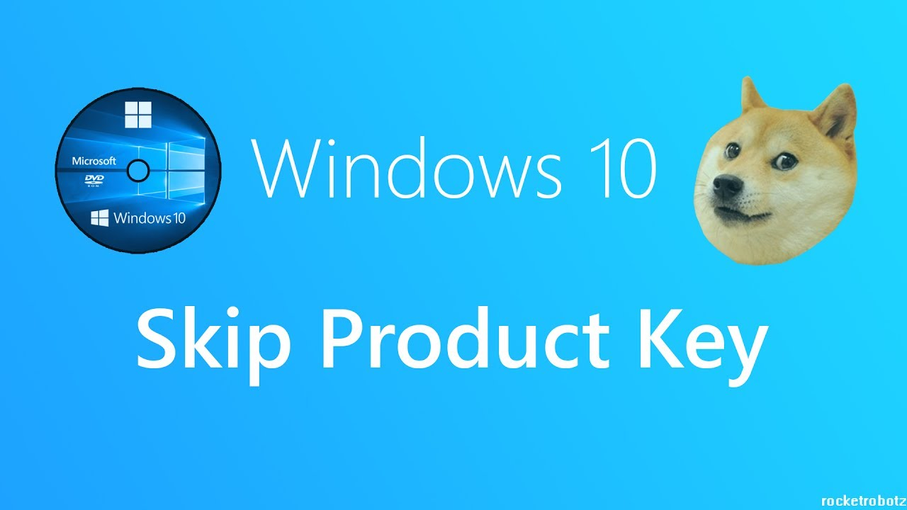 media creation tool asking for product key