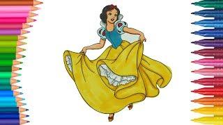 Ocuk şarkısı Ile Renkleri ğreniyorum Pamuk Prenses Boyama