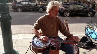 rick stevens on dobro - downtown santa cruz - 2/20/16