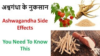 अश्वगंधा के नुकसान - Ashwagandha Side Effects - You Need To Know This