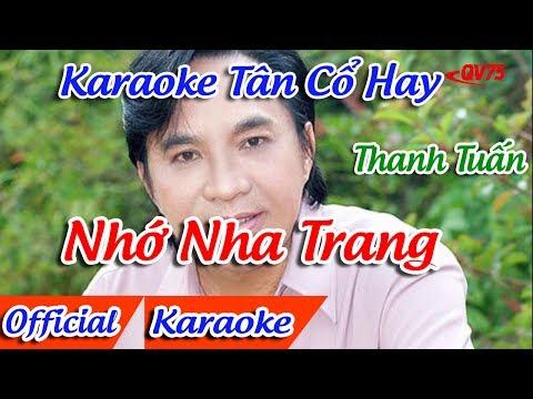 Nhớ Nha Trang Karaoke Tân Cổ | Thanh Tuấn Karaoke | Karaoke Tân Cổ Hay
