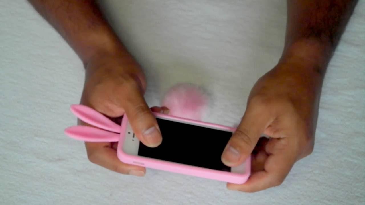 Hoesje Met Licht : Iphone en s konijn hoesje licht roze youtube