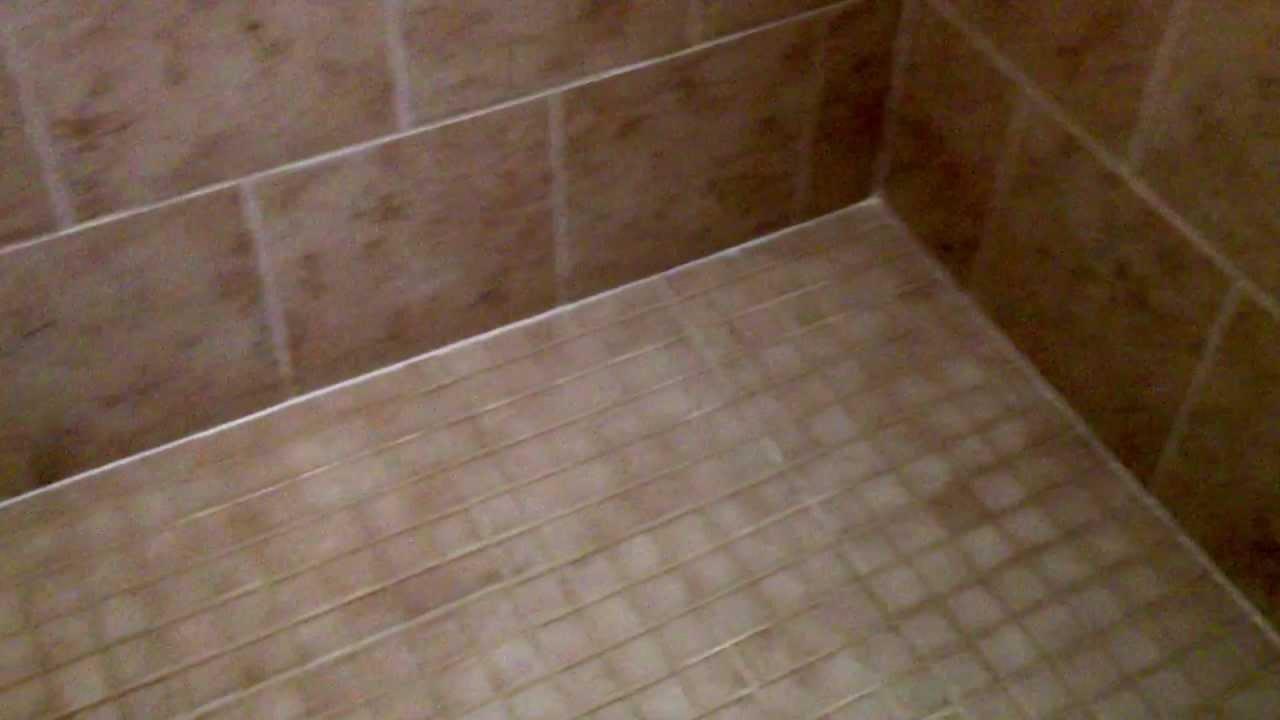 brick pattern tile shower youtube