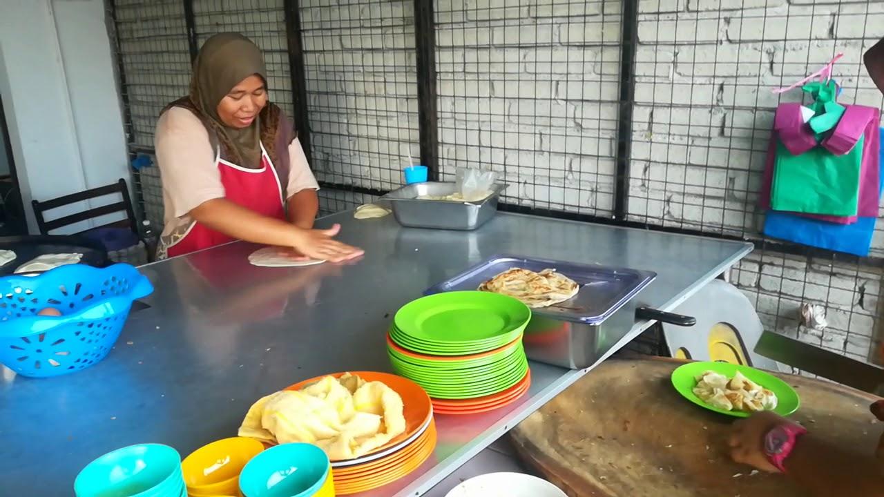 Как делают малазийские лепешки (Malaysian roti)