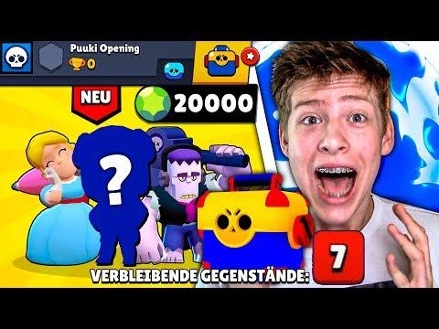 7 VERBLEIBENDE GEGENSTÄNDE *OMG* + 20.000 GEMS + LEGENDARY Gezogen! • Brawl Stars Deutsch