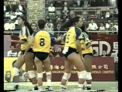 1998 Grand Prix Volleyball Semifinal Cuba Brazil