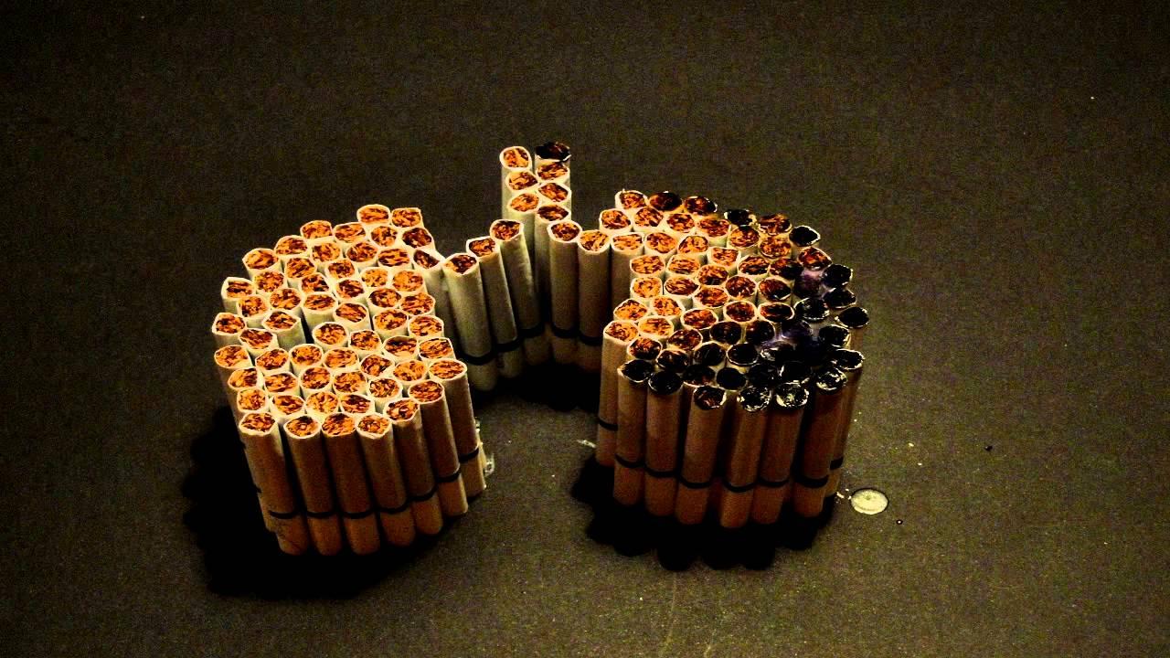 Fotos da campanha contra o cigarro