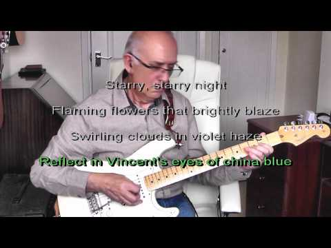 Vincent (Starry, starry night) -  Don McLean - Instrumental/Karaoke by Dave Monk