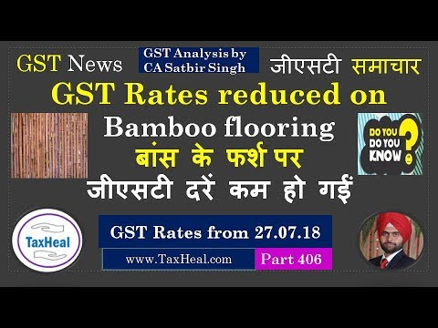 GST Rates Reduced On Bamboo Flooring From Notifications - Rate bamboo flooring