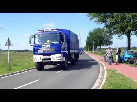a convoy departure to the Elbe flood in Germany 2013