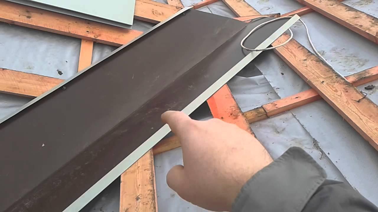 Как правильно сделать крышу из металлочерепицы фото 315