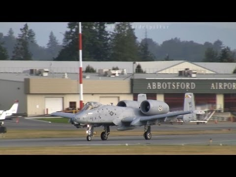 A-10 Thunderbolts departing Abbotsford Airport