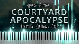 Courtyard Apocalypse: Harry Potter and the Deathly Hallows Part 2 (Piano Solo Tutorial)