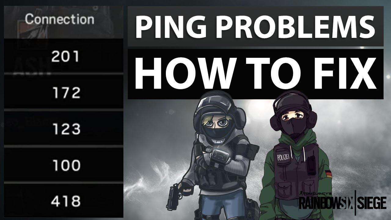 [ENGLISH] RAINBOW SIX SIEGE - High ping issue: How to Fix!