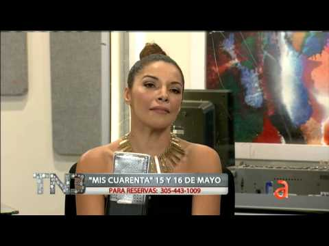 Carlos entrevista a Paula Arcila en TN3 - América TeVé