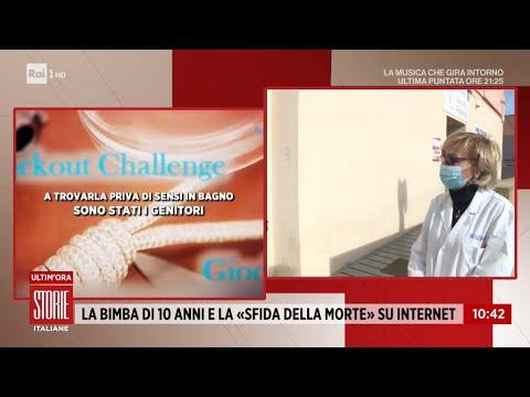 Sfida estrema sui social: muore soffocata bambina di 10 anni - Storie italiane 22/01/2021