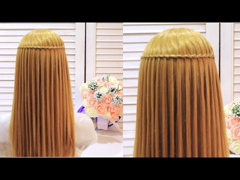 Коса водопад. Прическа в школу 2017. The most beautiful hairstyle 2017