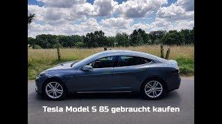 Tesla Model S Gebrauchtwagen am Supercharger in Braak