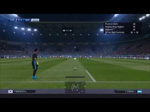 Pro Evolution Soccer 2016 International Match Argentina VS S.Korea Enhanced Graphics Review