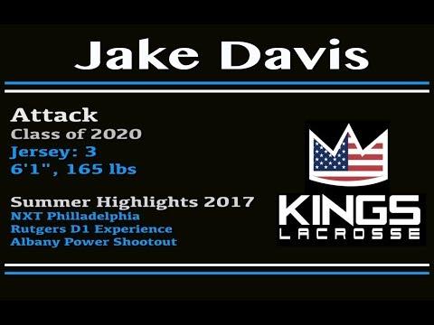 2020 Central Kings Attackman Jake Davis Summer 2017 Highlights