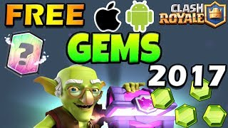Clash Royale FREE GEMS | FASTEST WAY POSSIBLE To Get FREE GEMS (2017)