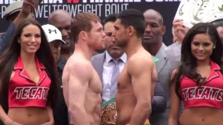 Canelo Saul Alvarez vs Amir Khan - FACE OFF at WEIGH IN