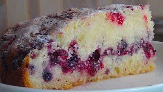 Обалденно вкусный сметанный пирог с ягодами (Sour creampie with berries