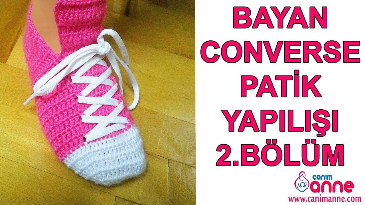 Convers Ayakkabı Patik Yapılışı Videolu Anlatımlı