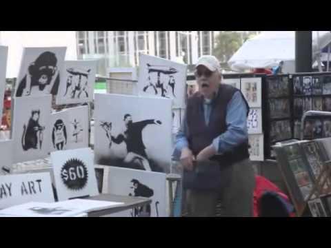Banksy Sells Original Paintings Worth $40,000 For $60 Each in New York Stunt