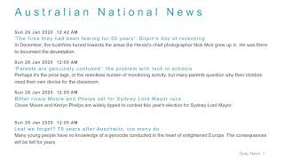 National News Headlines for 26 Jan 2020 - 8 AM Edition