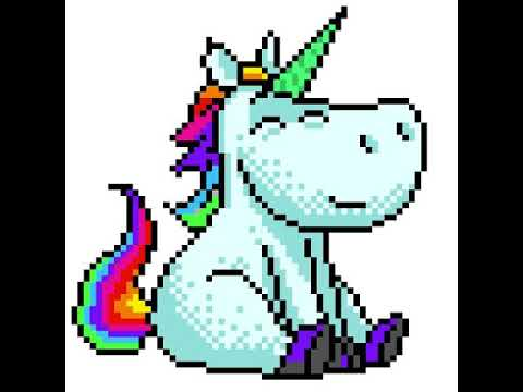 Unicorn on Colour By Numbers app - YouTube