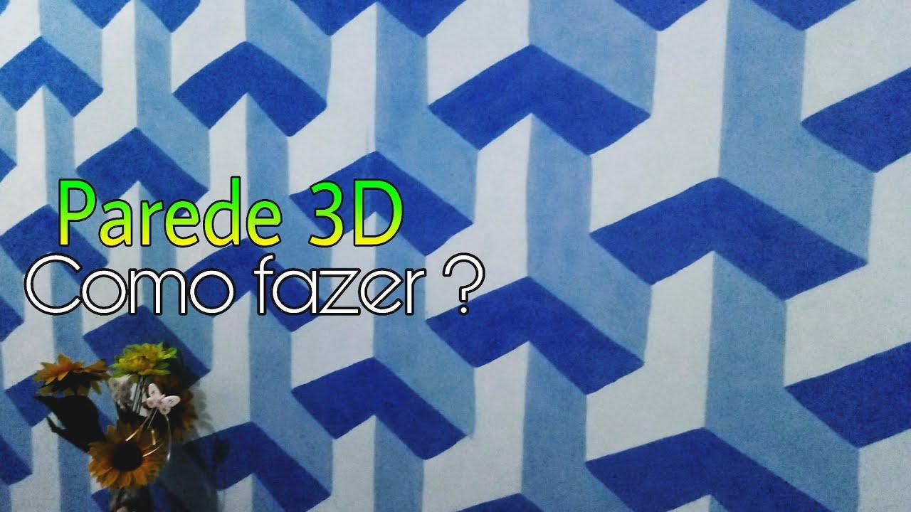 Pintura em parede efeito 3D  YouTube