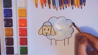 Как нарисовать овечку. Уроки рисования для самых маленьких