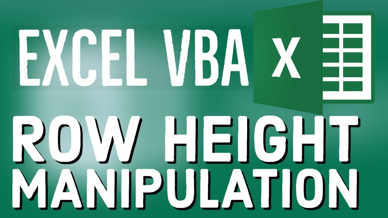 Excel VBA Tutorial for Beginners 21 - Row Height Manipulation