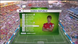 korea republic vs belgium national anthems fifa world cup 2014